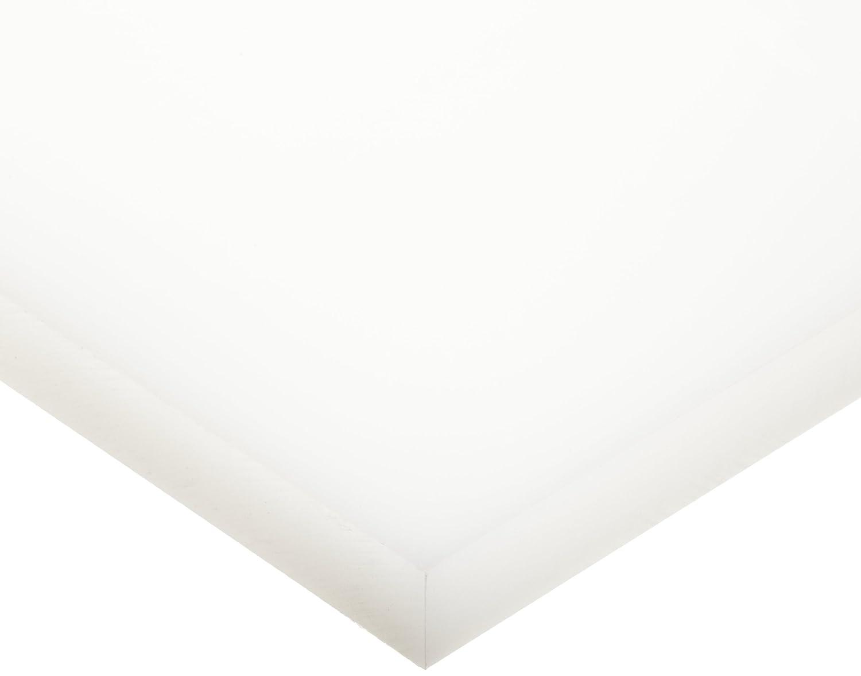 "LDPE (Low Density Polyethylene) Sheet, Opaque Off-White, Standard Tolerance, ASTM D4976 PE113, 0.187"" Thickness, 12"" Width, 12"" Length"