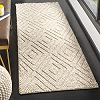 Safavieh Natura Collection NAT623B Hand-Woven Beige Wool Runner (23 x 8)