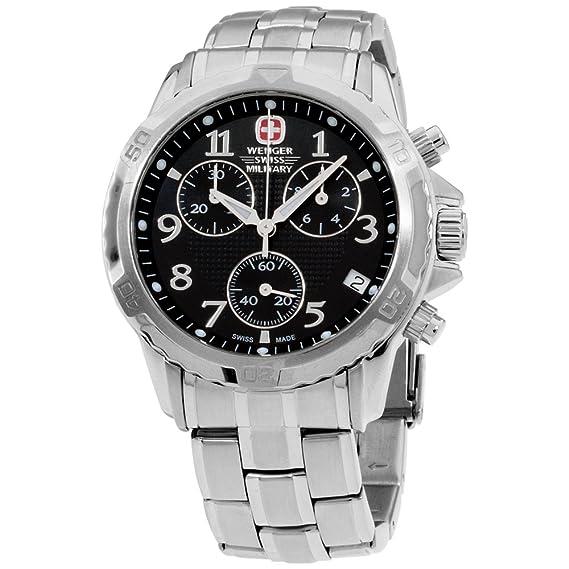 9e4016753545 Wenger Swiss Military  GST  FECHA cronógrafo de acero inoxidable Mens Watch  79136