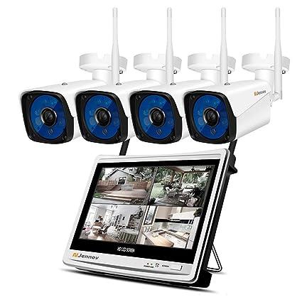 Sistema De Cámaras De Seguridad Inalámbricas HD 1080P Sistema De Cámaras De Seguridad Inalámbrico 12