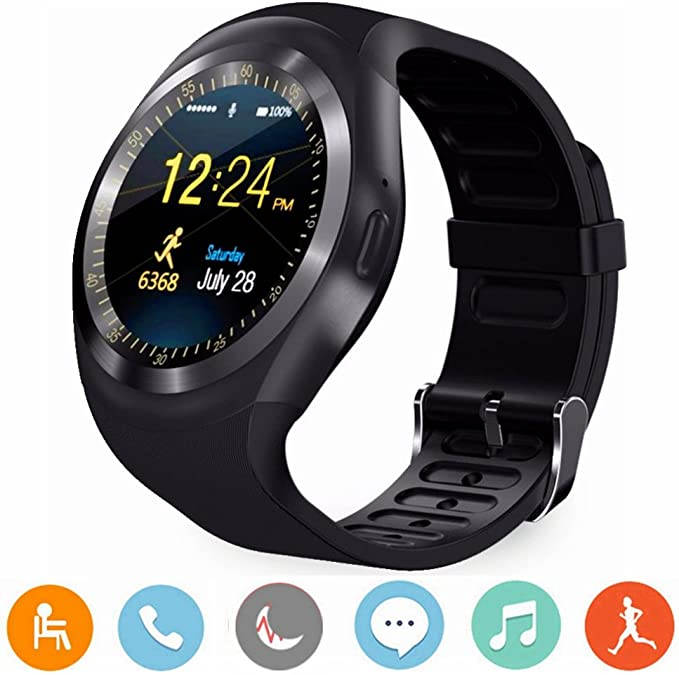 CanMixs Reloj inteligente Smart Watch Android Y1 con ranura para ...