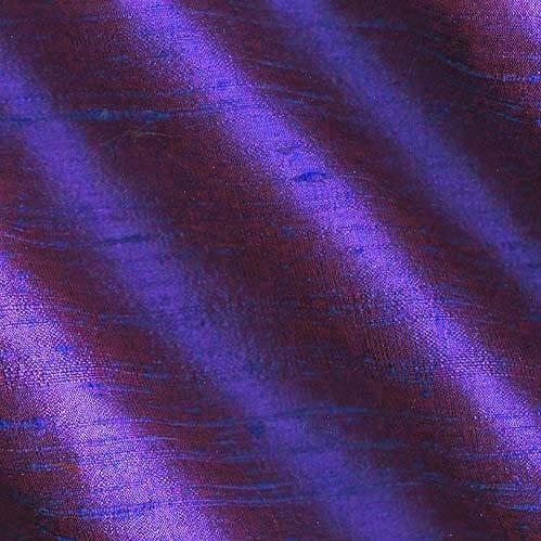 (Angus International Dupioni Silk Fabric Iridescent, Plum)