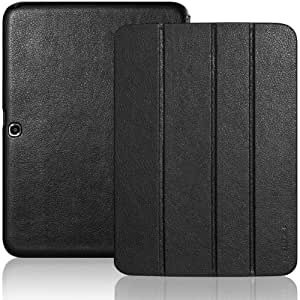 INVELLOP Black Leatherette Case Cover for Samsung Galaxy Tab 3 10.1