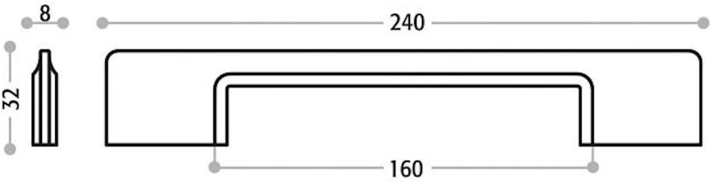 M/öbelgriff DANI Edelstahloptik BA 160 mm Schrankgriff K/üchengriff exklusiver Designgriff von Junker Design