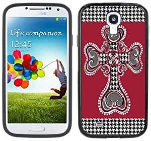 Houndstooth Cross Handmade Samsung Galaxy S4 Black Bumper Hard Plastic Case by icecream design