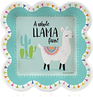 product image for Big Dot of Happiness Whole Llama Fun - Llama Fiesta Baby Shower or Birthday Party Dessert Plates - 16 Count