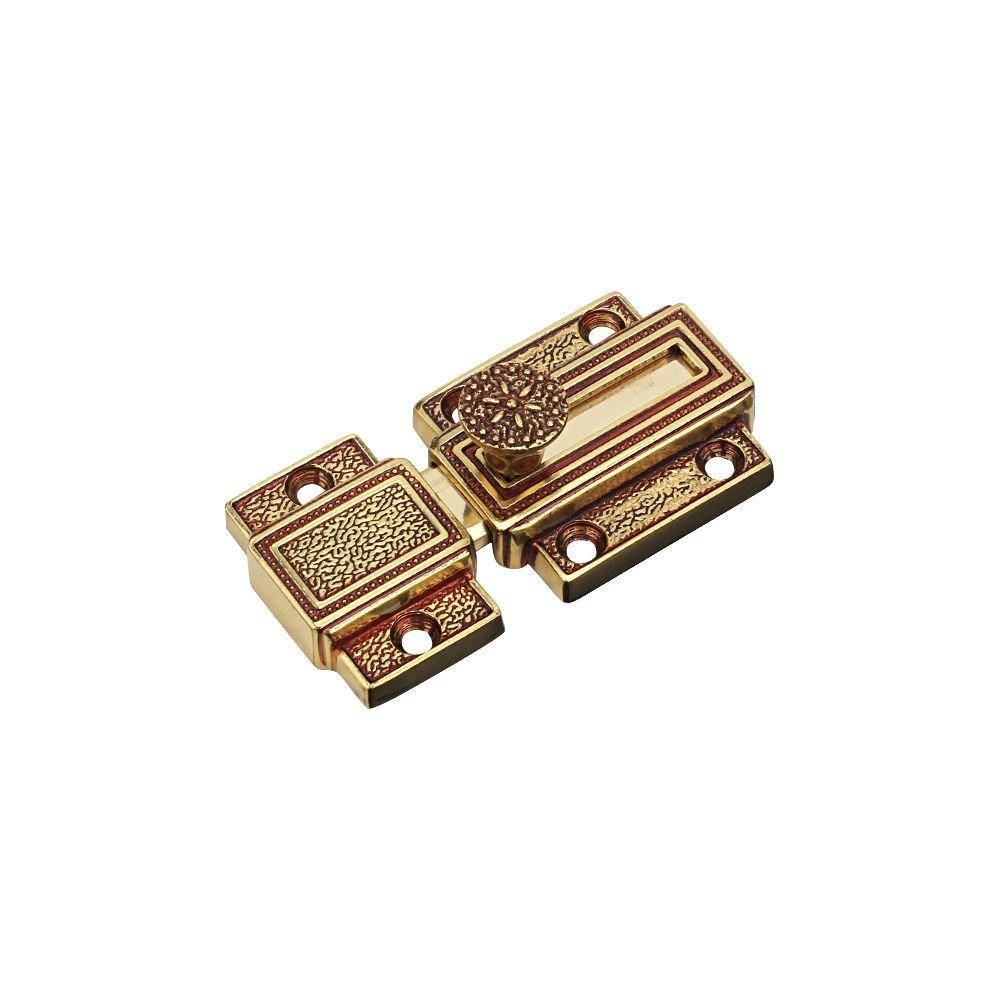 Zhi Jin 1Pc Luxury Pure Brass Barrel Slide Door Bolt Heavy Duty Gate Security Lock Latch Gold