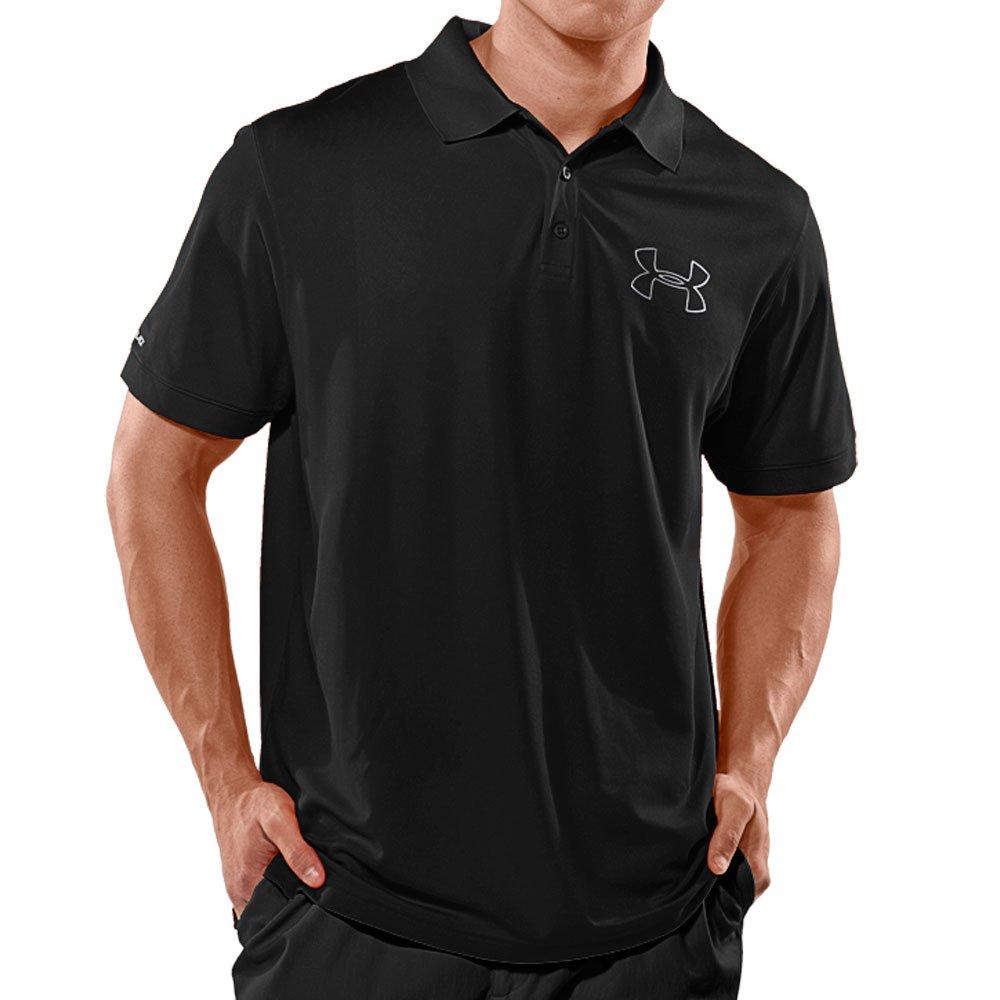 Amazon Under Armour Mens Cold Black Outline Logo Polo Sports