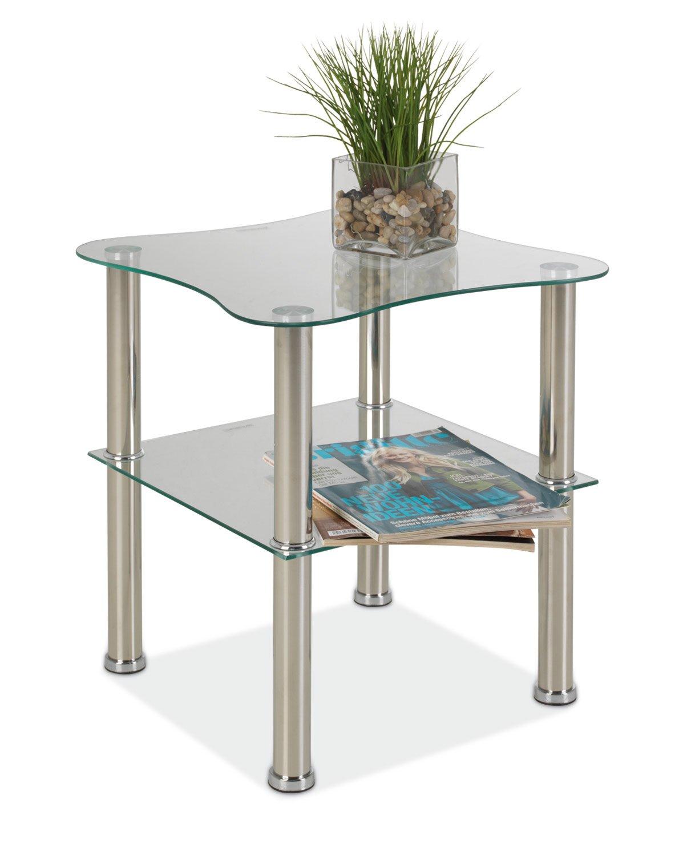 Beistelltisch glas edelstahl  Beistelltisch Couchtisch KLARK 1 | quadratisch geformt | Edelstahl ...