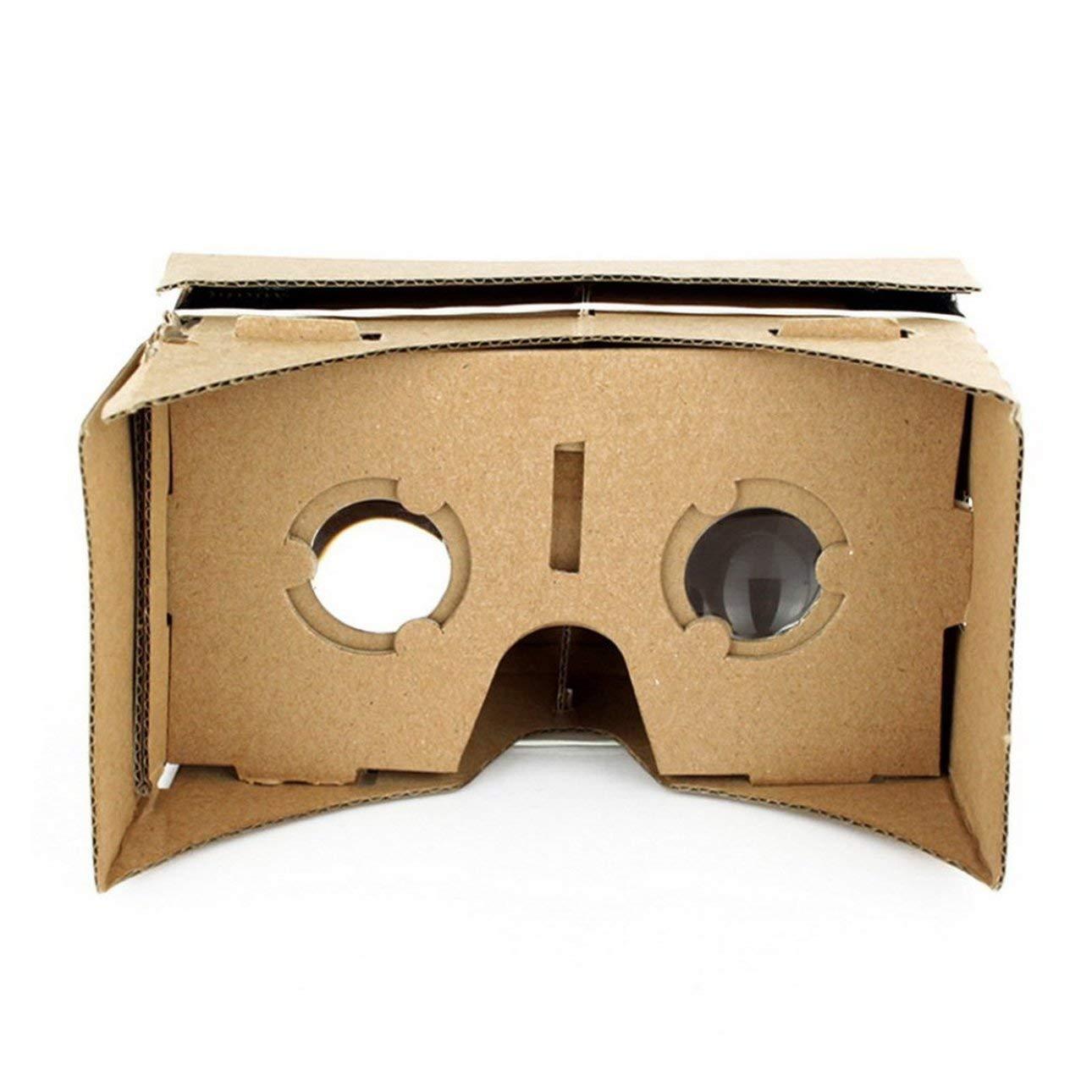 Pudincoco Ulter Clear DIY Cart/ón 3D VR Gafas de Realidad Virtual para Smartphone DIY Im/án Google Cartones Gafas