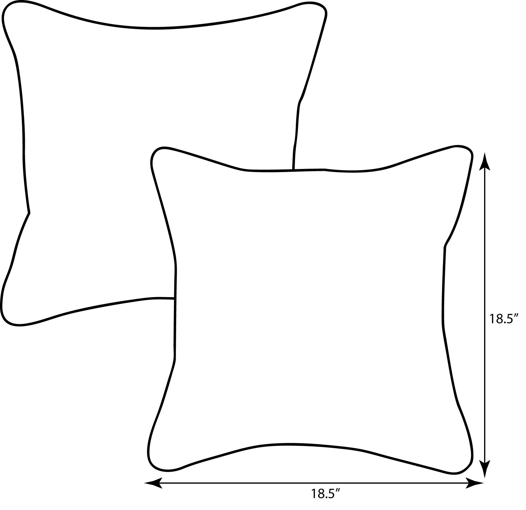 "Pillow Perfect Outdoor/Indoor Hadia Sunset Throw Pillow (Set of 2), 18.5"" - Includes two (2) outdoor pillows, resists weather and fading in sunlight; Suitable for indoor and outdoor use Plush Fill - 100-percent polyester fiber filling Edges of outdoor pillows are trimmed with matching fabric and cord to sit perfectly on your outdoor patio furniture - patio, outdoor-throw-pillows, outdoor-decor - 61sgAATYCNL -"