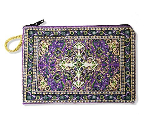 Religious Gifts Purple Case Tapestry Rosary Case Pouch Purse Keepsake Holder 5 1/2 Inch Width