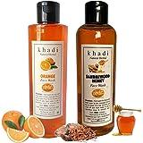 Khadi Natural Herbal Orange Foming Face Wash + Khadi Natural Herbal SANDALWOOD & HONEY Face wash 200ml