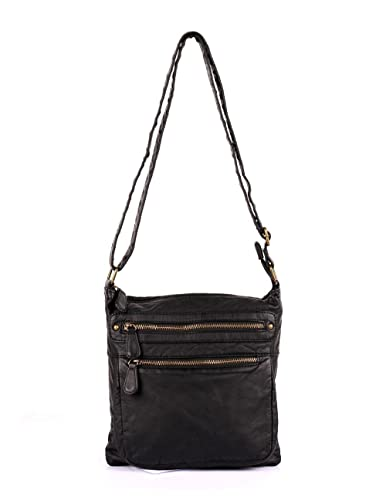 KARLA HANSON Charlotte Pre-Washed Women s Crossbody Bag Medium (Black) 917f138a05ac8