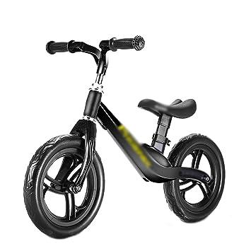 DUWEN Bicicleta para niños de Dos Ruedas con Equilibrio para niños sin Pedal 1-2-3-6 años (Color : Negro): Amazon.es: Deportes y aire libre