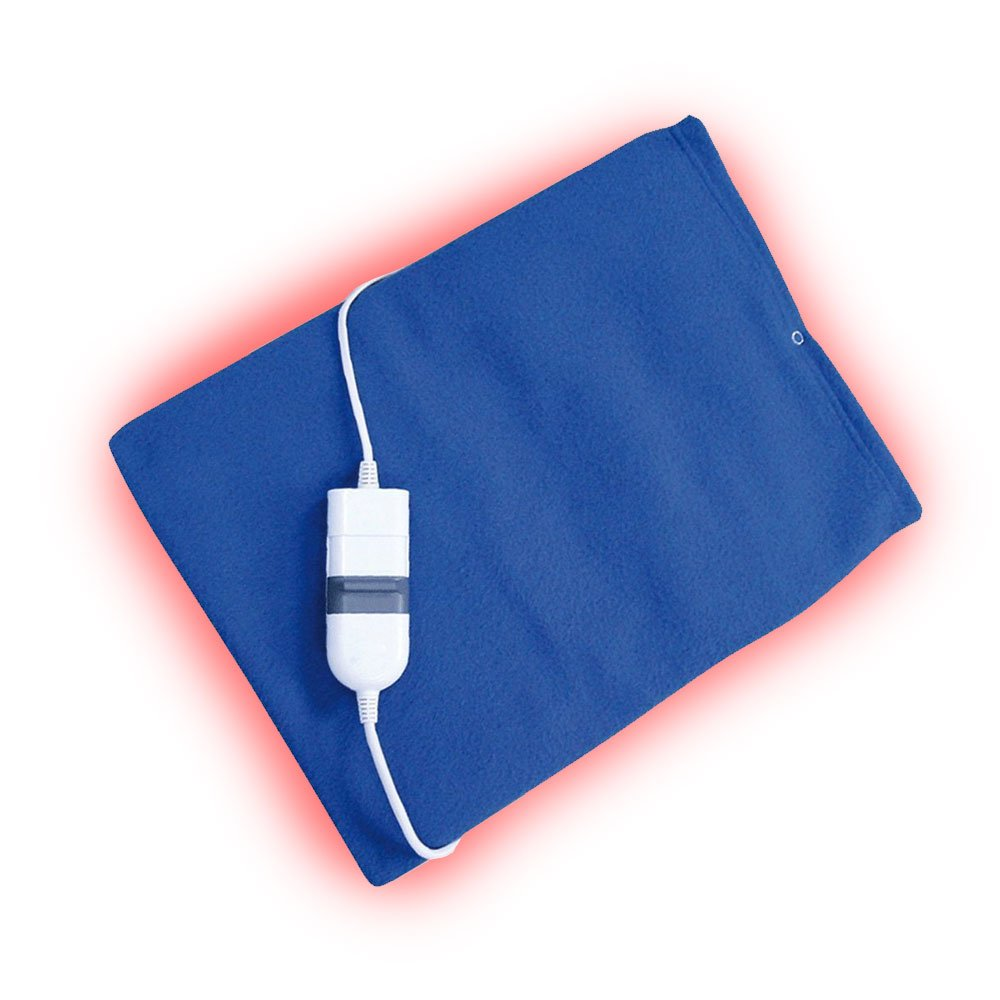 PU Health Pure Acoustics Top Quality King Size Fast Heating Pad Pain Relief Massage with Storage Bag