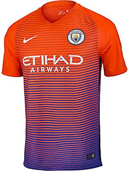 1a1b7ce454c Amazon.com   Nike Men s Manchester City Third Stadium Soccer Jersey 2016  2017 (Large) Safety Orange