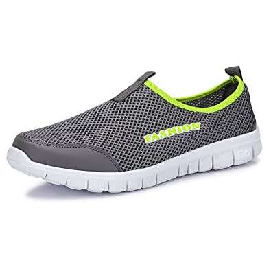 Sibba Men's & Women's Runing Shoes Breathable Mesh Slip-On Sneakers For  Walking Jogging Outdoor