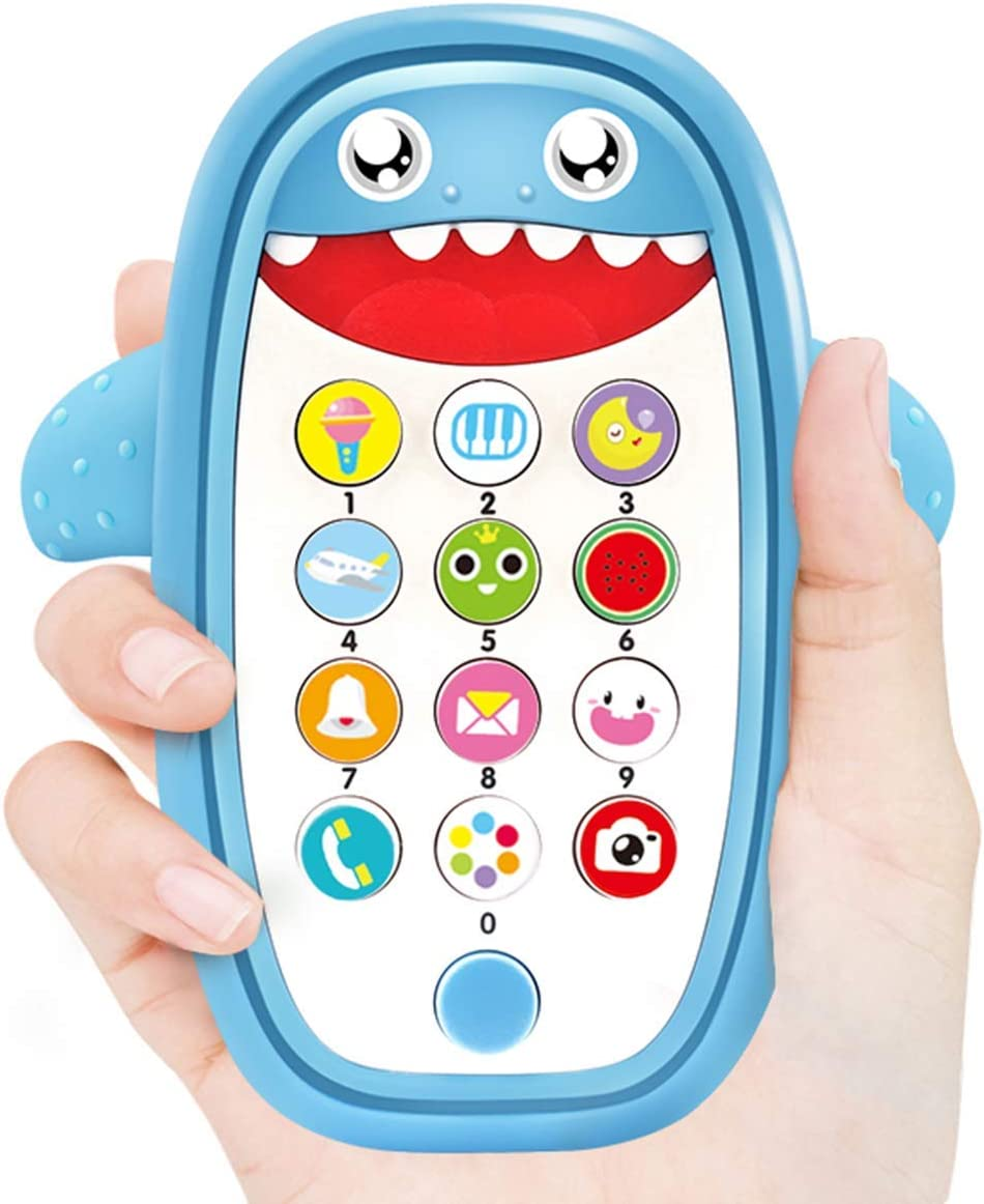 Baby Musical Toys,Baby Shark Phone Toys with Light and Sound, Teething Phone Toy for Babies - Play and Learn for Children and Toddlers