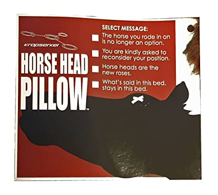 kropserkel severed horse head pillow amazoncouk kitchen home - Horses Head Pillow
