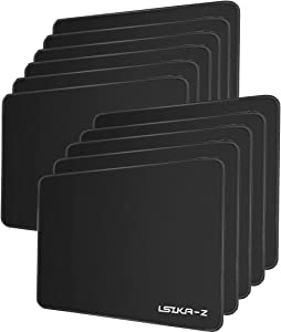 Gaming Mouse Pad 10 Pack, Premium-Textured Mouse Pads with Stitched Edges,Water-Resistant Mouse Pads with Non-Slip Rubber Base for Laptop Computer & PC 10.2×8.3×0.08 inches Black