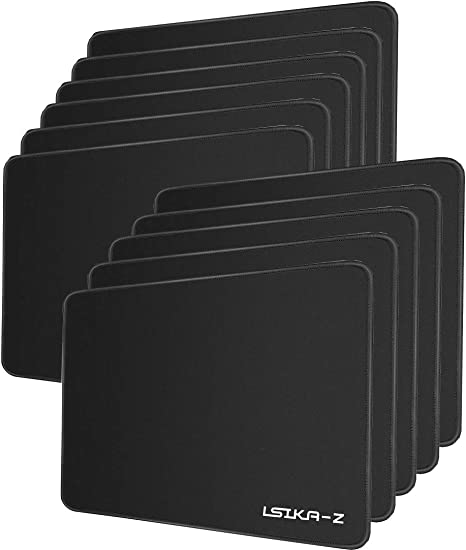 ... Ktrio 10 Pack Mouse Pad with Stitched Edges Mousepads Bulk with Lycra Cloth