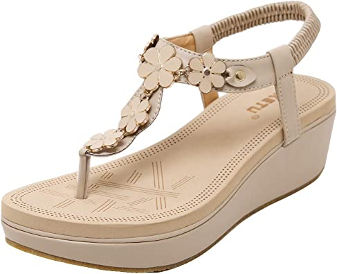 Sandale Femme Compensee Plateforme Ete, Sandales Chic