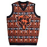 KLEW NFL Chicago Bears Ugly Sweater Vest, Large, Blue