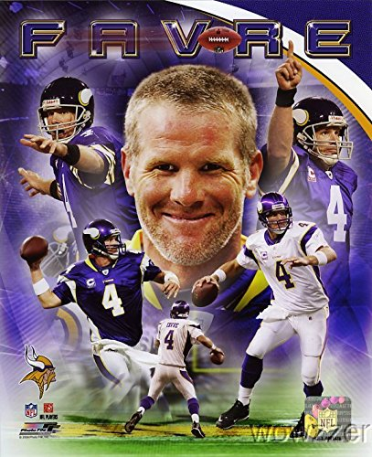 Brett Favre Vikings NFL Hologram 8x10 Color Glossy Photo #1 in Mint Condition This Great Looking Officially Licensed High Quality Collectible Photo comes in a BCW Acrylic Protective Top Loader!