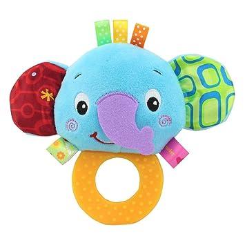 Baby Kleinkindspielzeug Stoffspielzeug Plüschtier Hand Rasseln Tiere Hand