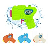 4 Packs Water Pistol, Soni Water Squirt Gun for Water Fight Great Summer Water Toys Outdoor for fun