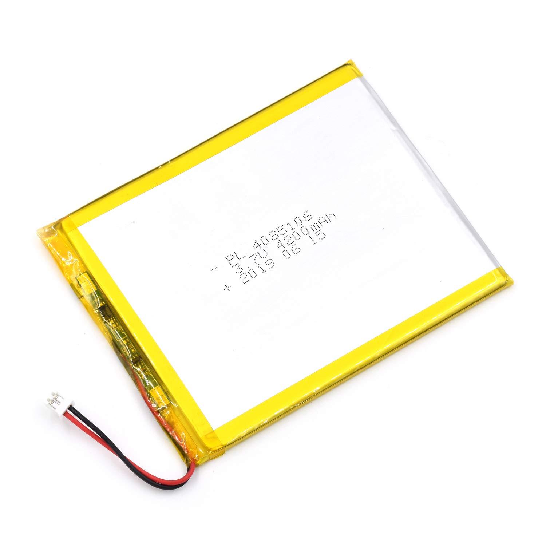 Bateria Lipo 3.7V 4200mAh 4085106 Recargable JST Conector