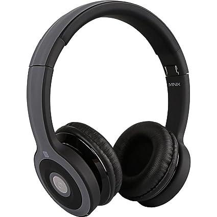 Minix - Bluetooth nt-ii en la oreja auriculares plegables nfc negro