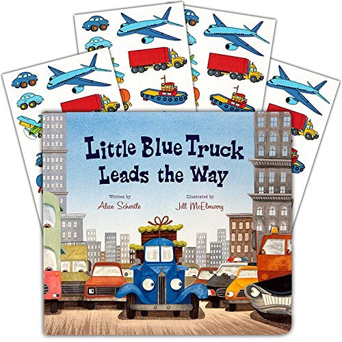Little Blue Train (Little Blue Truck Board Book Set Baby Toddler -- Deluxe Lap Book with Sticker Pack (