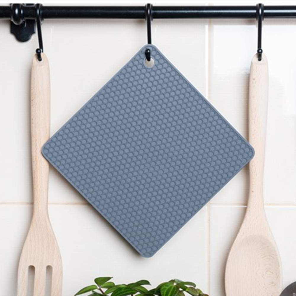 Flexible Easy to wash and Dry and Contains 4 pcs 2 Squared + 2 Circular Pot Holders SOECE Silicone Trivet Mats Hot Pot Holders and Silicone Trivets Multipurpose Hot Trivets.Non-Slip,Durable