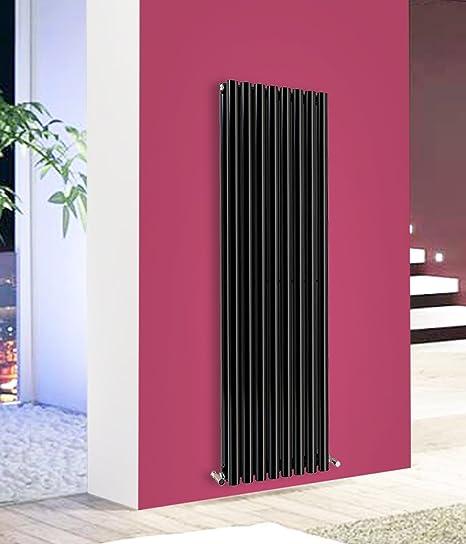 NRG-Radiator Modern Vertical Column Designer Radiator Black 1600x472 ...