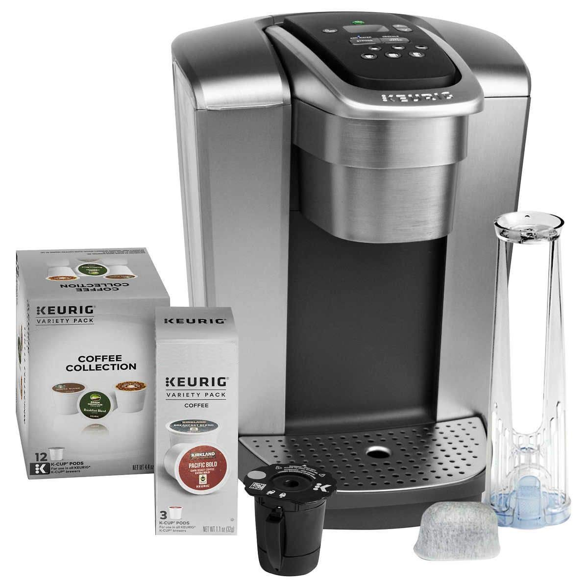 Keurig Fil K-Elite C Single Serve Coffee Maker (Brushed Silver) with 15, Water Filter, and My K-Cup, 2, by Keurig