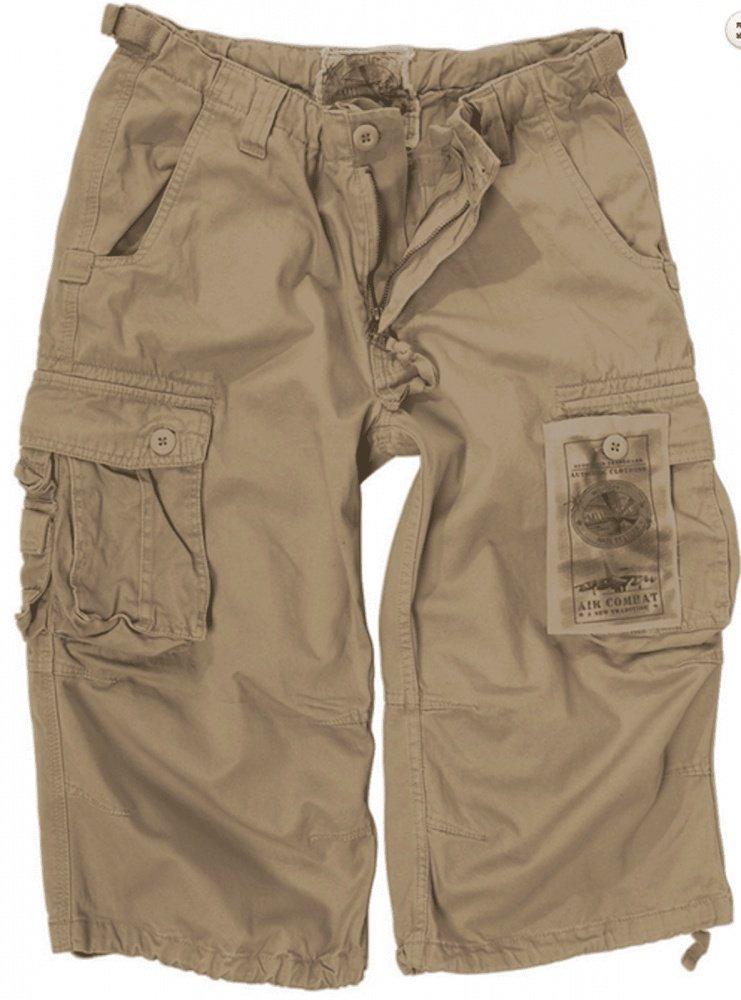 Mil-Tec Air Combat 3/4-Pants prewash schwarz