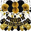 Best Epic Trends 61sgHlSGYYL._SS100_ ZERODECO Birthday Party Decoration, Happy Birthday Banner with Paper Fans, Honeycomb Balls, Triangular Pennants, Circle…