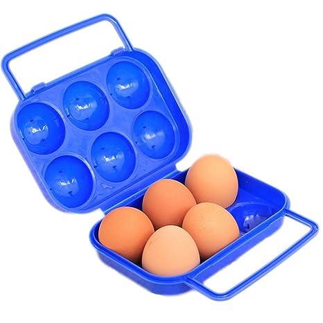Outflower Caja de Huevos Caja de Almacenamiento de Huevos, Exterior Portátil Soporte para Huevos para