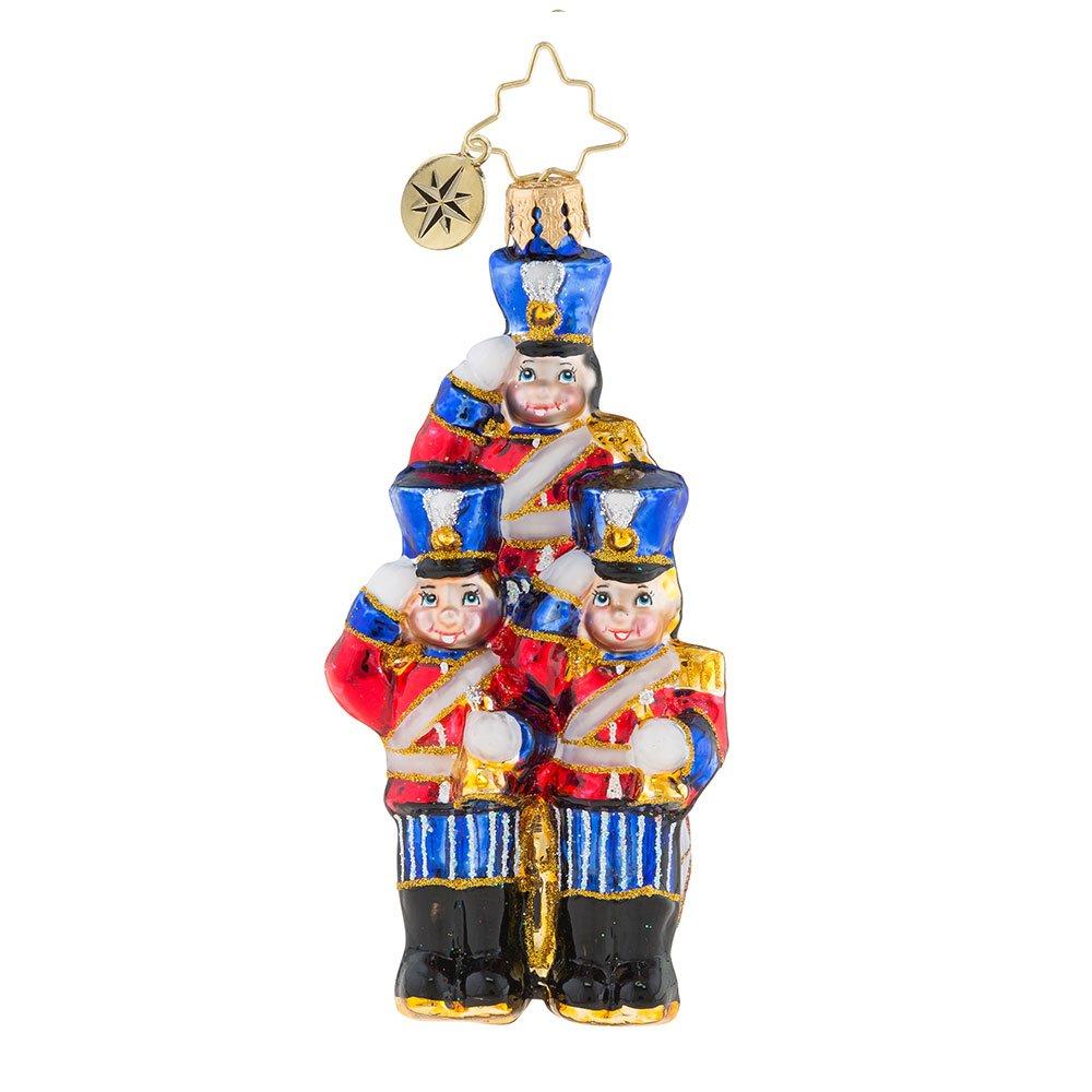 Christopher Radko Strike Up the Band Little Gem Christmas Ornament