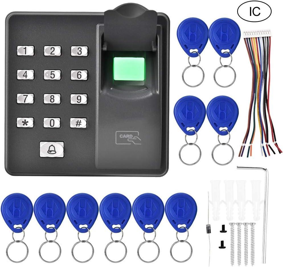 Garsent Machine Assistance Biom/étrique ID Usine Machine Biom/étrique du Pointage Pointeuse dEmpreintes sans Logiciel Lecteur RFID dEmpreinte Digitale pour Bureau /École H/ôtel etc.