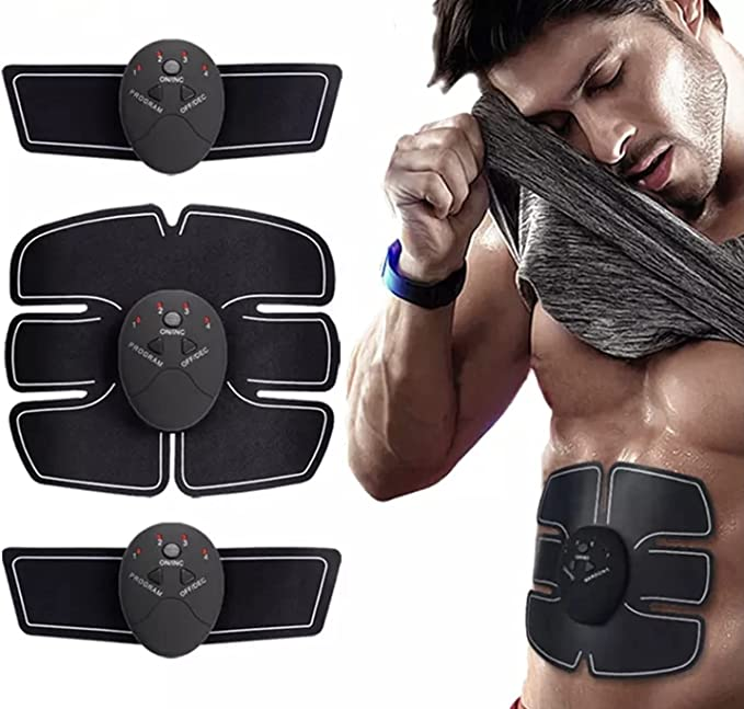 3 In 1 Smart EMS Fitness Belt Abs Muscle Toning Trainer Charminer Stimulator Kit