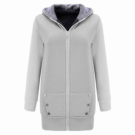 Sonnena mujeres invierno cálido terciopelo grueso abrigo sudadera con capucha chaqueta Outwear Overcoat