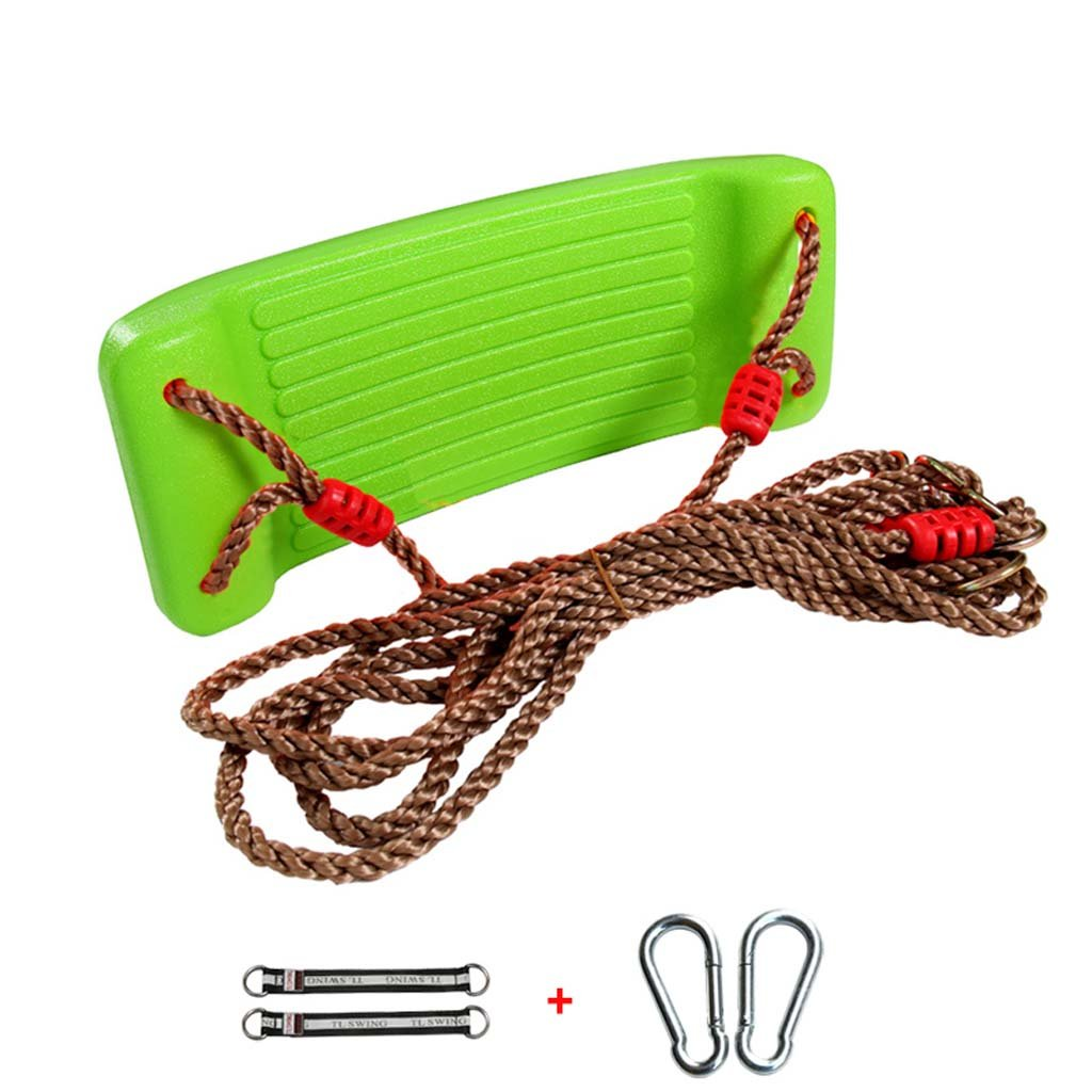 Green Baby Swing Seat  Outdoor Play Kids High Back Swing With Adjustable Ropes Included Ideal For Swing Sets Max Load 120KG,Red