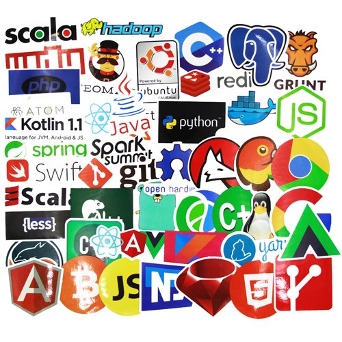Laptop Stickers for Developer (50PCS)- Programming stickers of front-end dev,back-end languages stickers for Software Developers, Engineers, Hackers, Programmers, Geeks, and Coders (50PCS)