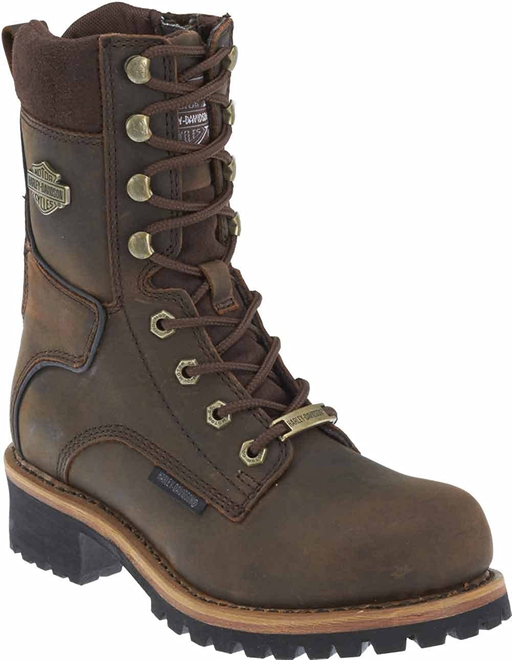 Harley-Davidson Womens Tyson 7-In Logger Motorcycle Boots D87088 Brown, 11