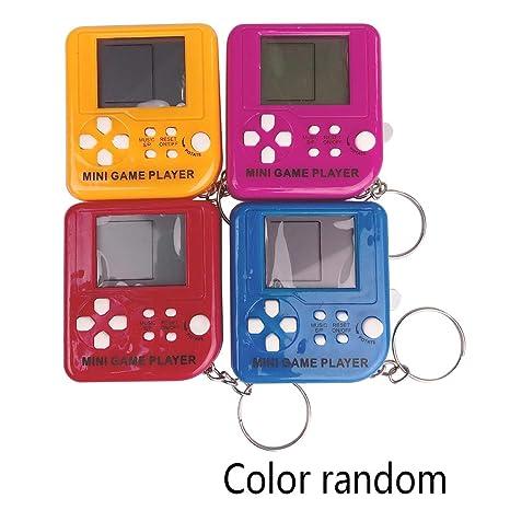 Junlinto, Mini Consola portátil de Juegos Tetris Llavero ...