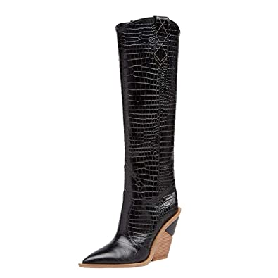 694427bf506 Amazon.com | Themost Womens Cowgirl Knee High Boots Miami Western ...