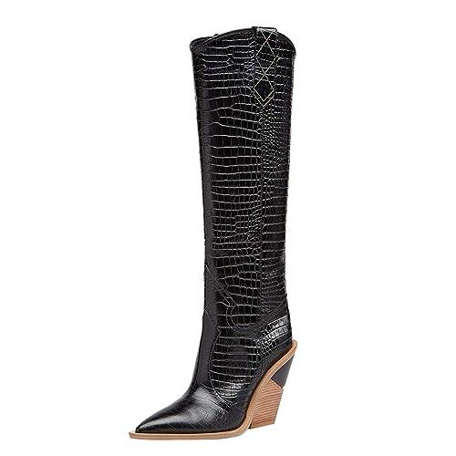 59141de3e10 Amazon.com | Themost Womens Cowgirl Knee High Boots Western Cowboy ...